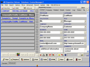 Contact Organizer Deluxe Screenshot