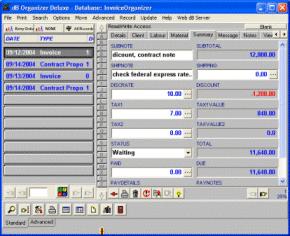 Invoice Organizer Deluxe Screenshot 1