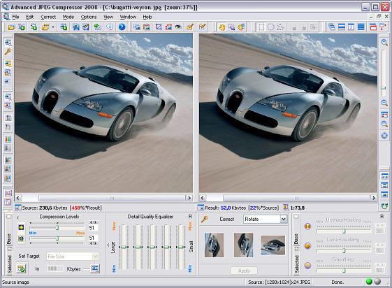 Advanced JPEG Compressor Screenshot 1