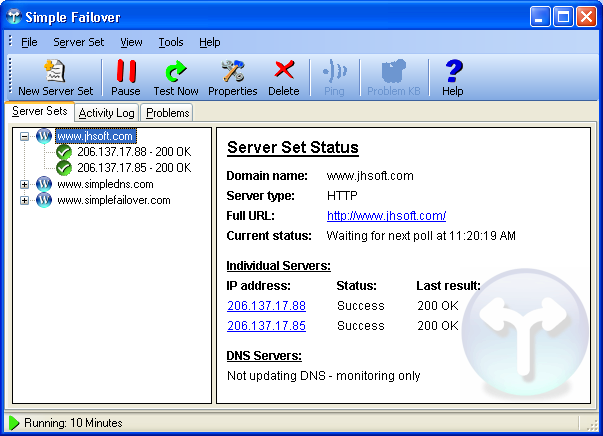 Simple Failover Screenshot