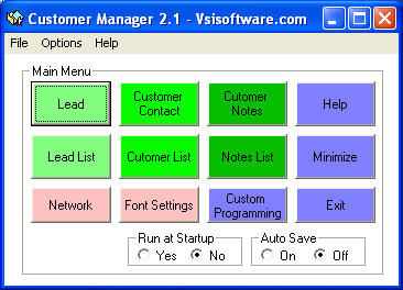 Customer Manager Buddy Screenshot