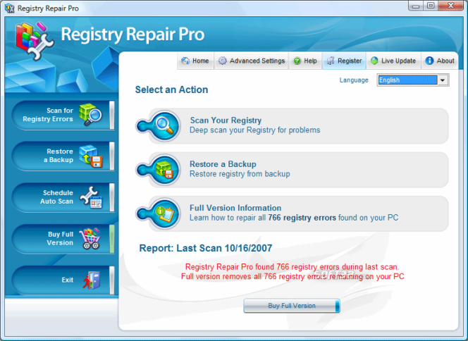 Registry Repair Pro Screenshot 2