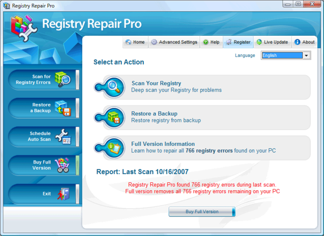 Registry Repair Pro Screenshot 1