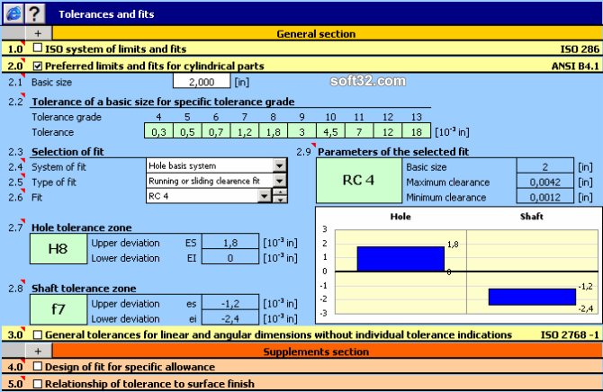 MITCalc - Tolerances Screenshot 3