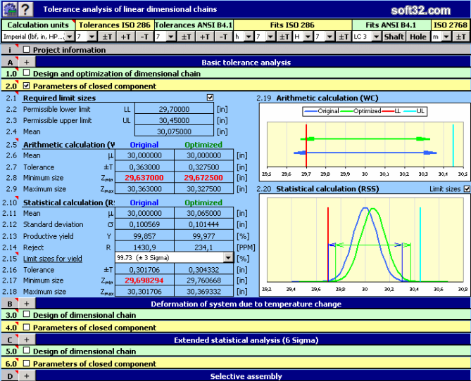 MITCalc - Tolerance analysis Screenshot 2