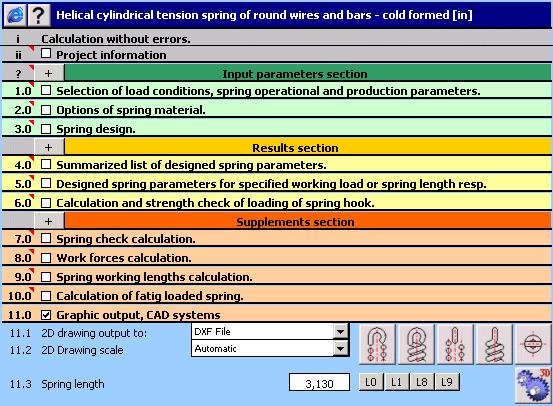 MITCalc - Tension Springs Screenshot