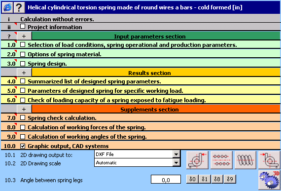 MITCalc - Torsion Springs Screenshot 1