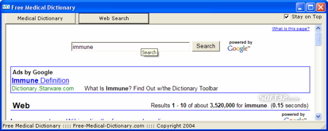 Free Medical Dictionary Screenshot 4
