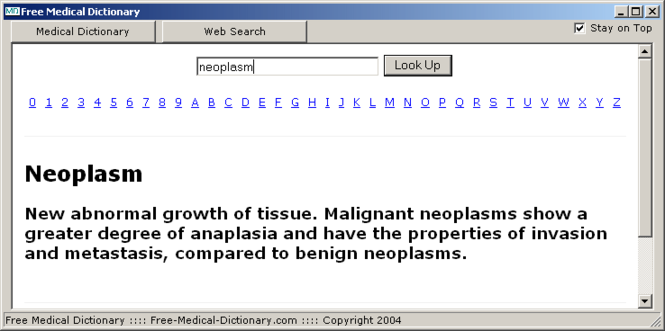 Free Medical Dictionary Screenshot