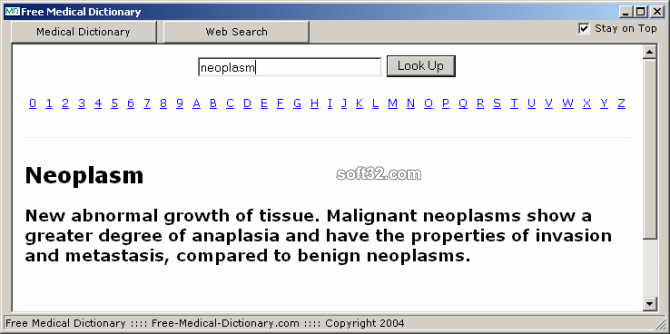 Free Medical Dictionary Screenshot 2