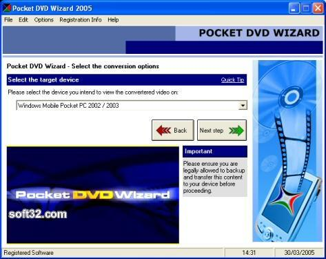 Pocket DVD Wizard Screenshot 2