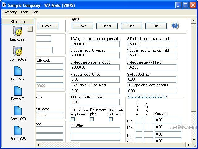 W2 Mate-W2 1099 Software Screenshot 3