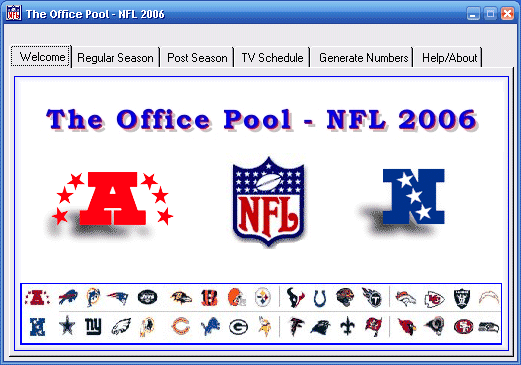 NFL Office Pool Screenshot
