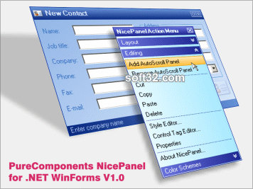 PureComponents NicePanel for .NET Screenshot 1