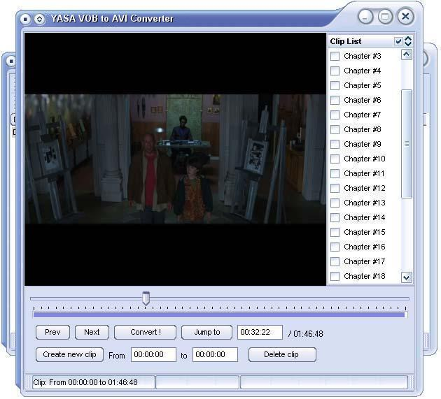 YASA VOB to AVI Converter Screenshot