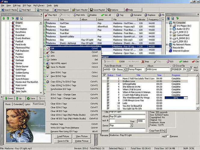Zortam ID3 Tag Editor Screenshot 1