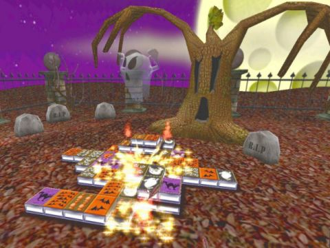 3D Halloween Mahjong Screenshot 1