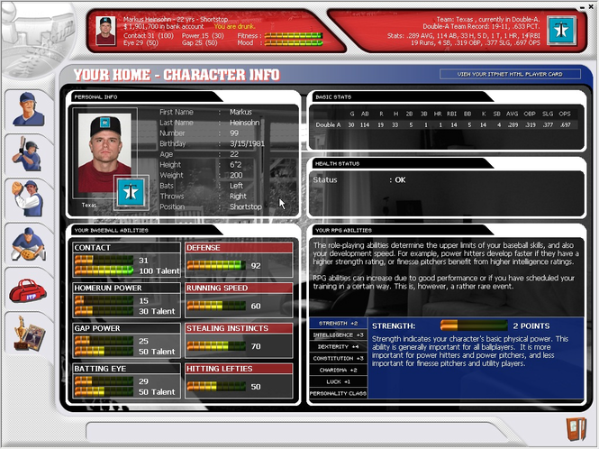 Inside the Park Baseball Screenshot