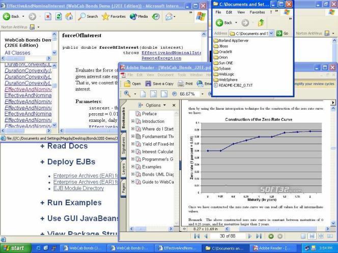 WebCab Bonds (J2EE Edition) Screenshot 3