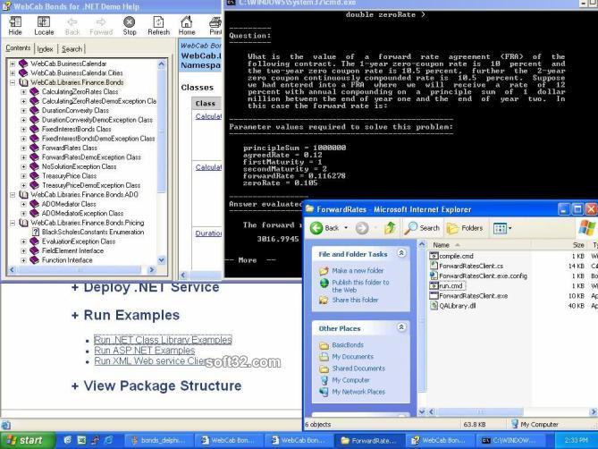 WebCab Bonds for .NET Screenshot 3