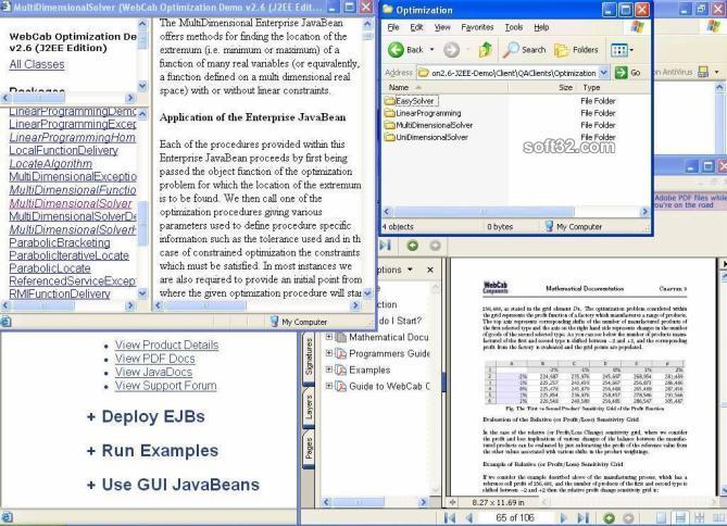 WebCab Optimization (J2EE Edition) Screenshot 3