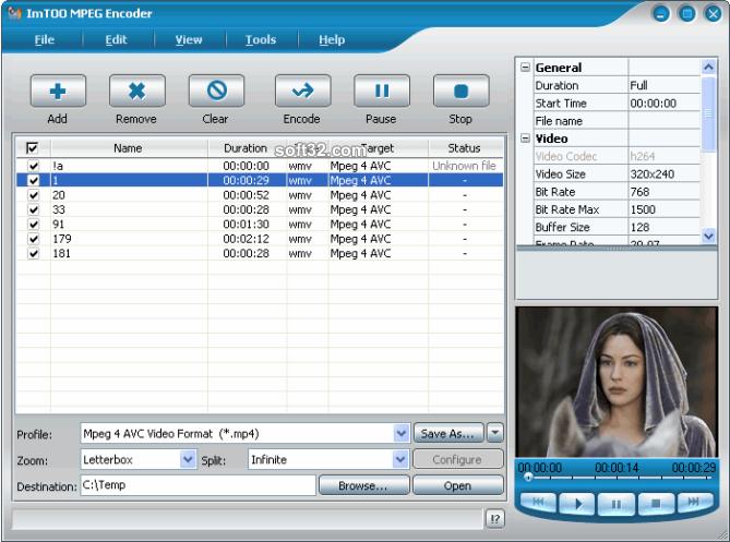 ImTOO MPEG Encoder Platinum Screenshot 8