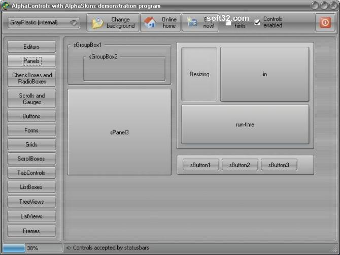 AlphaControls 2009 Screenshot 3