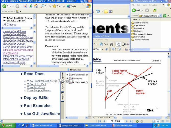 WebCab Portfolio (J2EE Edition) Screenshot 3