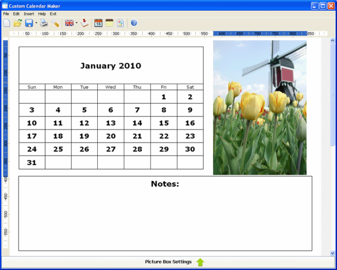 Custom Calendar Maker Screenshot 1