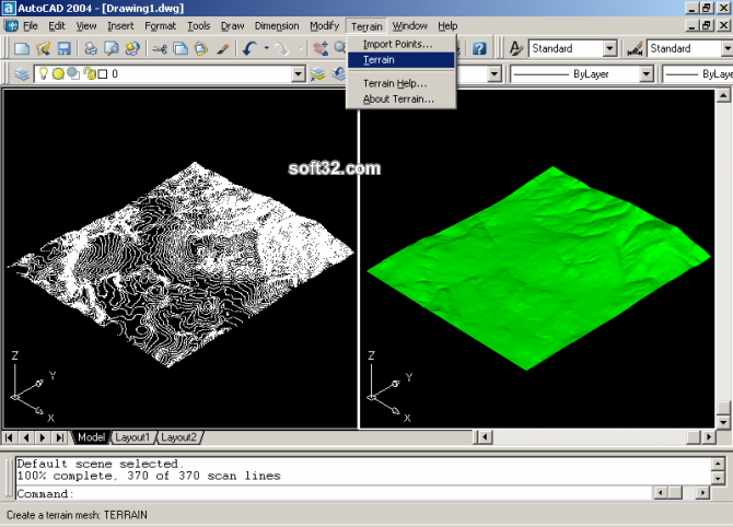 Terrain for AutoCAD Screenshot