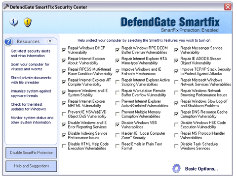 DefendGate Security Suite Screenshot