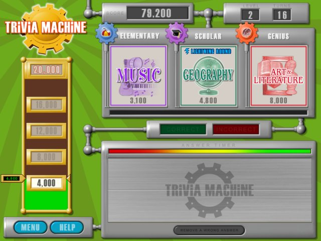 Trivia Machine Screenshot 1