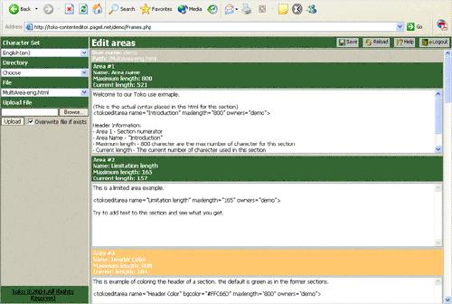 Toko Content Editor Screenshot
