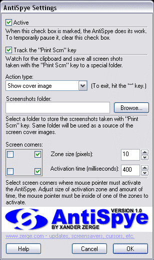 AntiSpye Screenshot