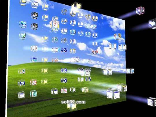3D Crash Icons Screensaver Screenshot 2