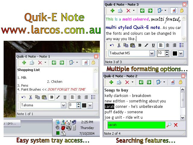 Quik-E Note Screenshot 1