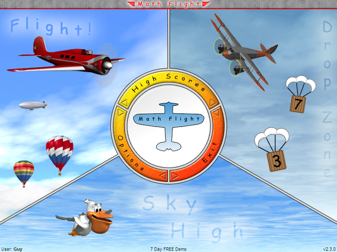 Math Flight Screenshot