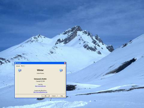 Snow of Winter Screen Saver Screenshot