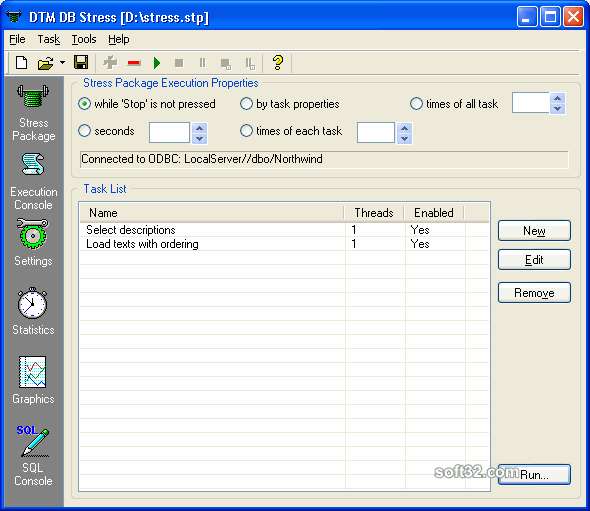 DTM DB Stress Screenshot 2