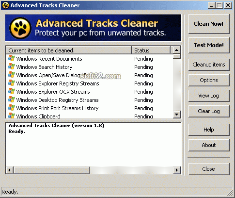 Advanced Tracks Cleaner Screenshot