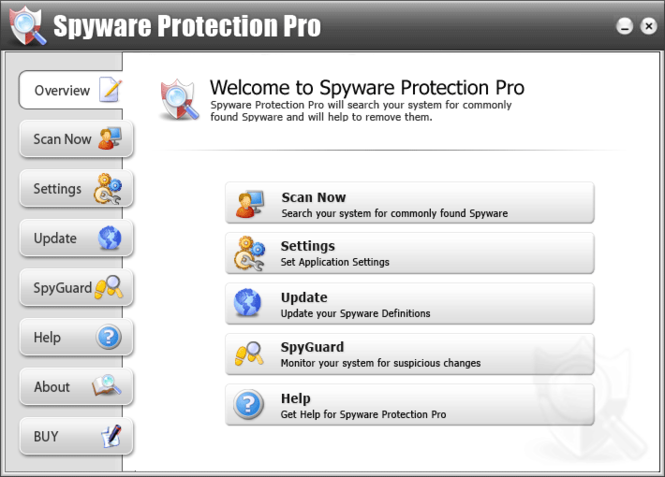 Spyware Protection Pro Screenshot 1