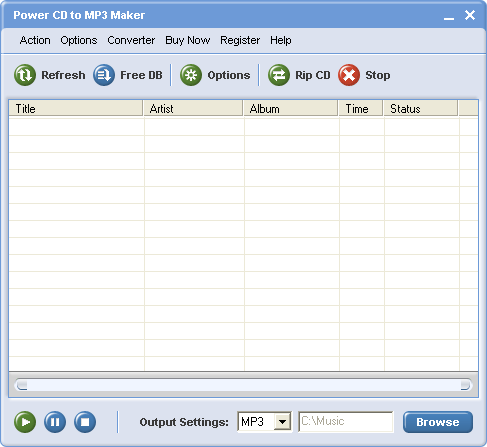 Power CD to MP3 Maker Screenshot