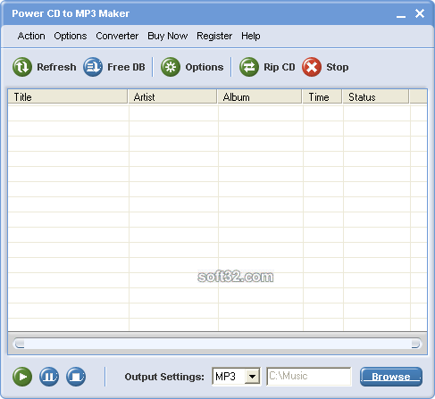 Power CD to MP3 Maker Screenshot 3