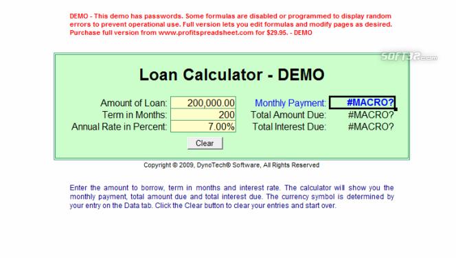 Profit Loss Report Spreadsheet Screenshot 2