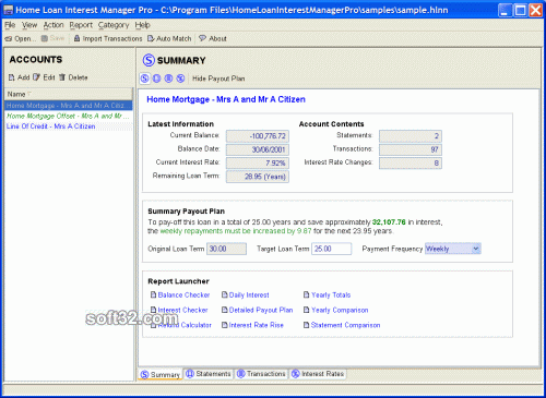 Home Loan Interest Manager Screenshot 3