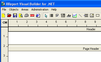 RReport Visual Builder for .NET Screenshot