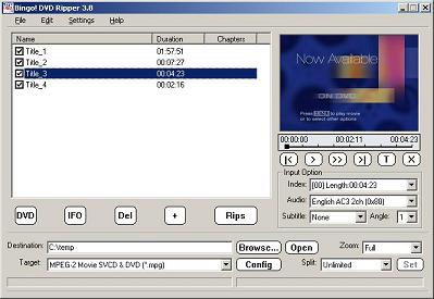 Bingo! DVD Ripper Screenshot