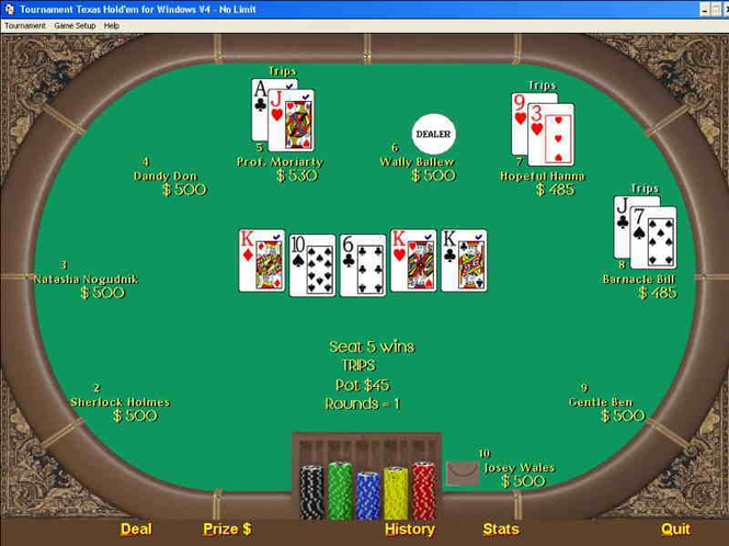 Tournament Texas Holdem Screenshot