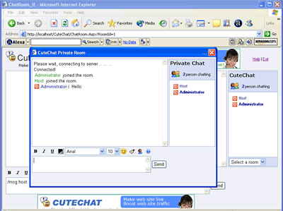 Cute Chat Screenshot 1
