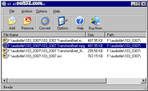 4U AVI MPEG Converter Screenshot 2